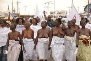 Half naked women