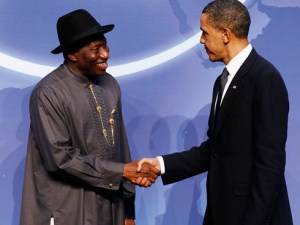 President Jonathan and US president, Barack Obama