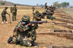 Soldiers at war with Boko Haram