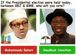 Buhari and Jonathan for poll