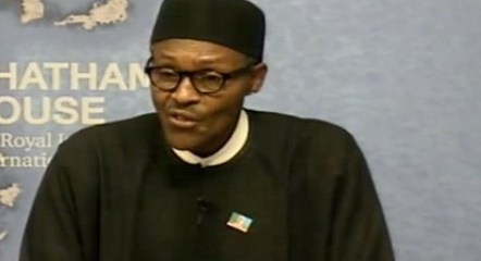Buhari speaks at Chatham house