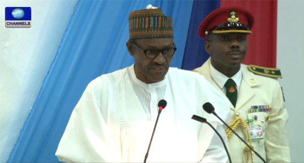 Buhari at military college
