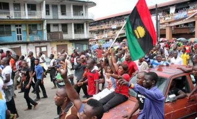 Members of IPOB during protest in Anambra