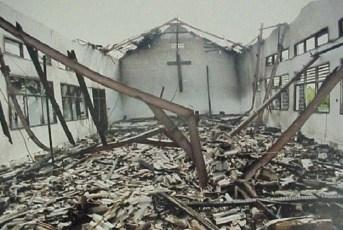 Church burnt