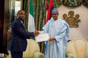 Equatorial foreign minister and Buhari