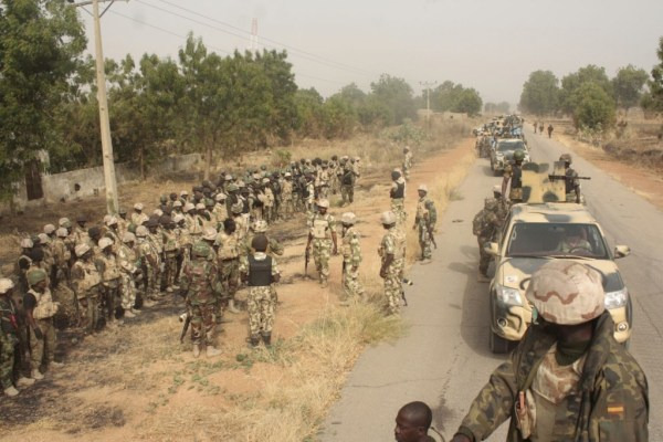 Nigerian troops in sambisa forest |Credit: Buznigeria