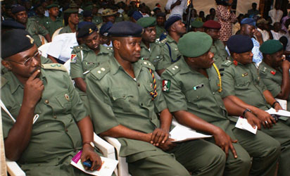 File photo: Some Nigeria's Army Officers