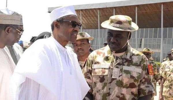 President Muhammadu Buhari and Chief of Army staff, Lt. Tukur Yusuf Burtai