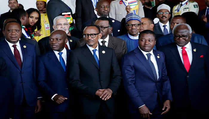 African Leaders at AU summit in Addis Ababa, Ethiopia