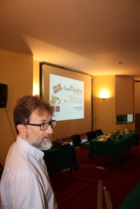 The coordinator of Green Bubbles, Carlo Cerrano, on the first day of the Open Workshop