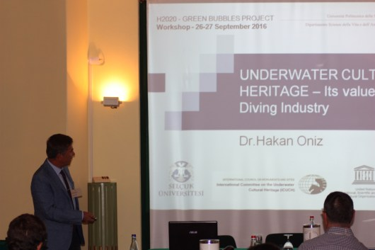 Prof. Hakan Oniz (Selcyk University and UNESCO) talking about the value of underwater cultural heritage