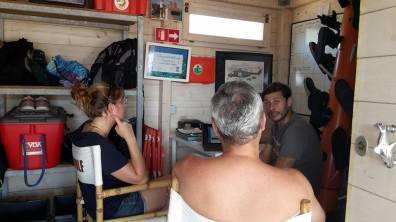 PADI Regional Manager Fabio Figurella trains instructors during the course