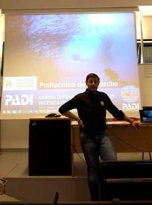 Fabio Figurella introducing the new PADI Researcher Diver specialty course