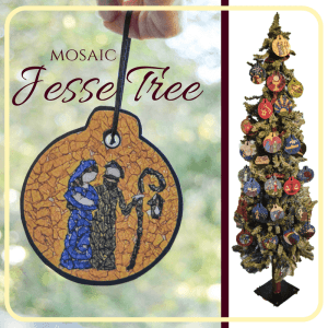 How to start a Jesse Tree tradition in your family this Advent. I LOVE this ornament set!