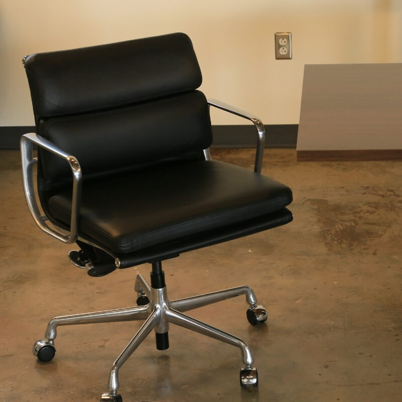 Industrial Conference Room Eames Soft Pad Chairs