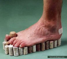 Interesting slippers made of cork stoppers