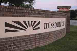 City Sign for Missouri City