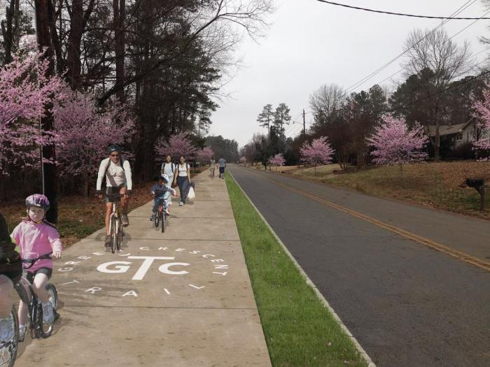 Berkeley Drive Clemson SC - image of potential Green Crescent Trail pathway