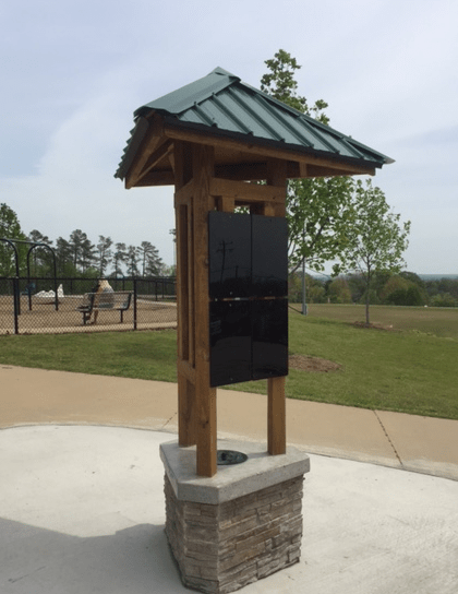 Kiosk example - Green Crescent Trail - Clemson