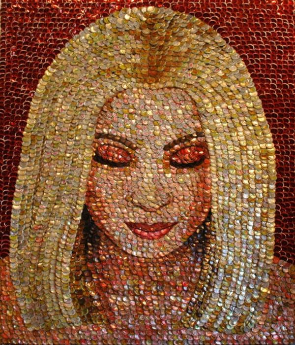 Bottle cap portrait