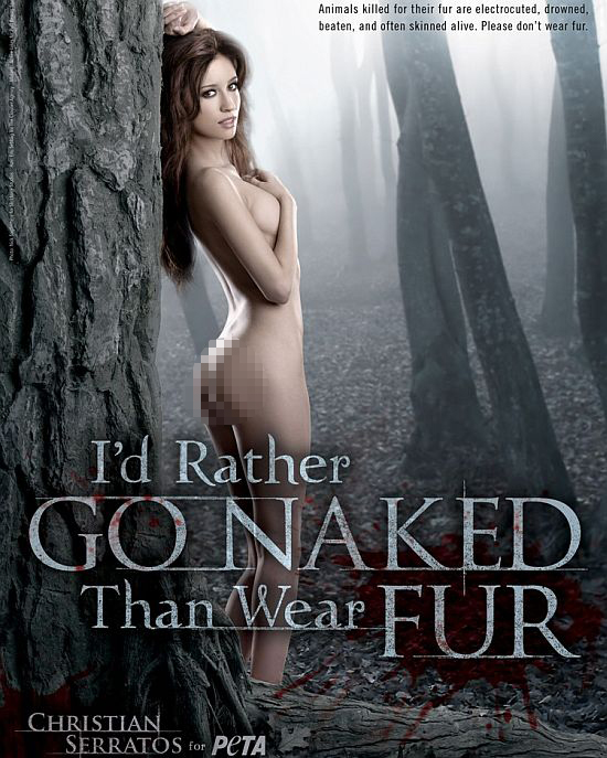 christian serratos for peta 1