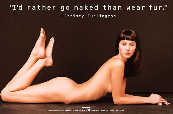 christy turlington for peta