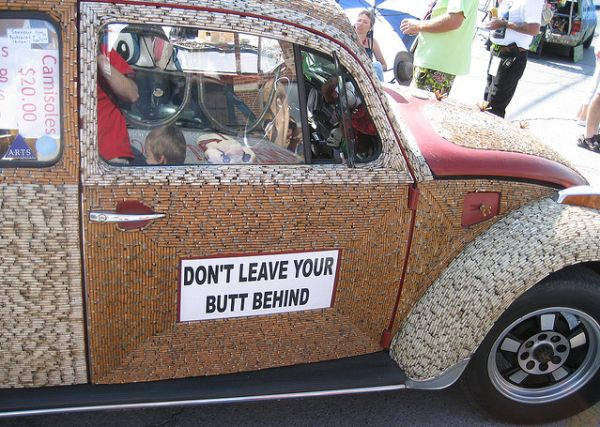 Cigarette Butt Car