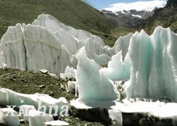 global warming is melting tibetan glaciers 9