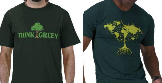green message t shirts
