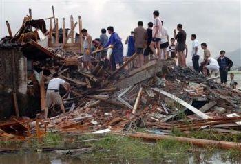 hit by typhoon saomai
