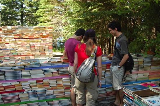jardin de la connaissance book installation 8