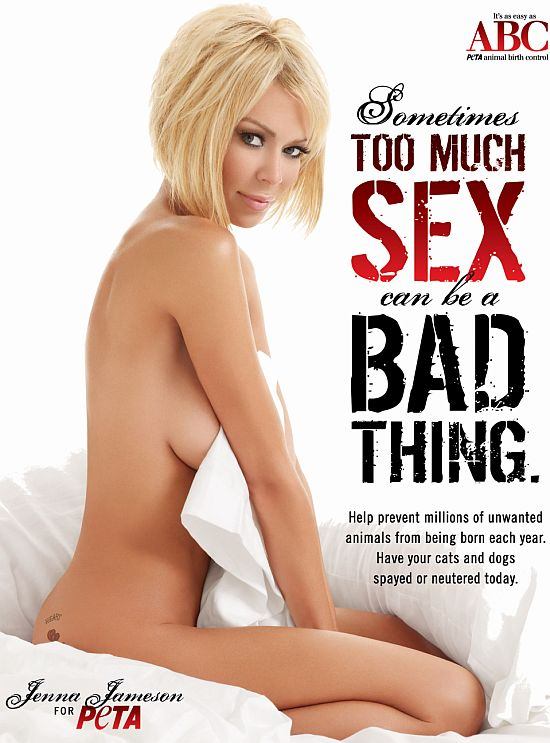 jenna jameson for peta