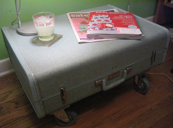 Old suitcase eco friendly tables