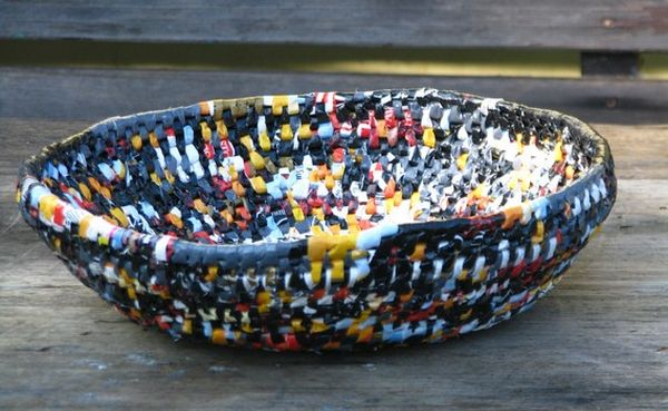 recycled plastic bag basket 4