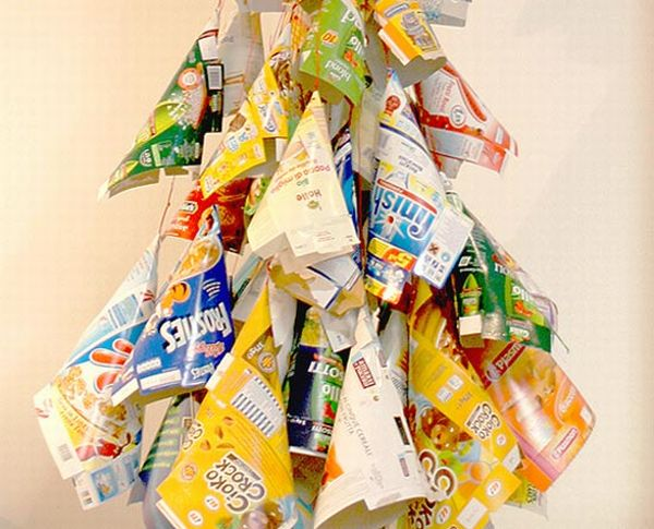 Recycled Packaging Boxes Christmas Tree