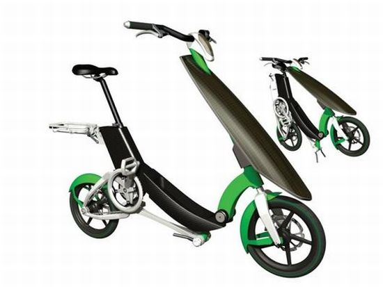 sunny day compact solar electric bike