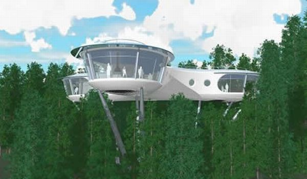 biggest treehouses in the world sybarites modular tree dwelling