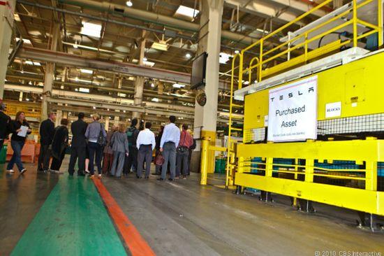 tesla electric car factory 4
