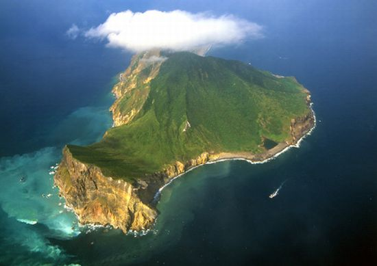 turtle island in toucheng in yilan county of china