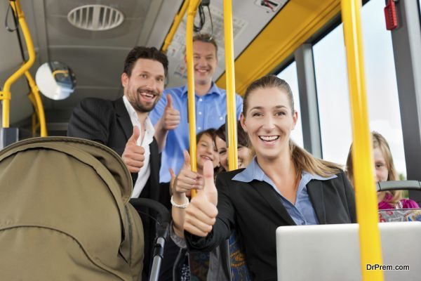 Passengers in a bus