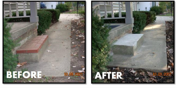 leveling concrete steps