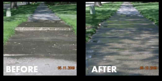 Sunken Sidewalk Repair