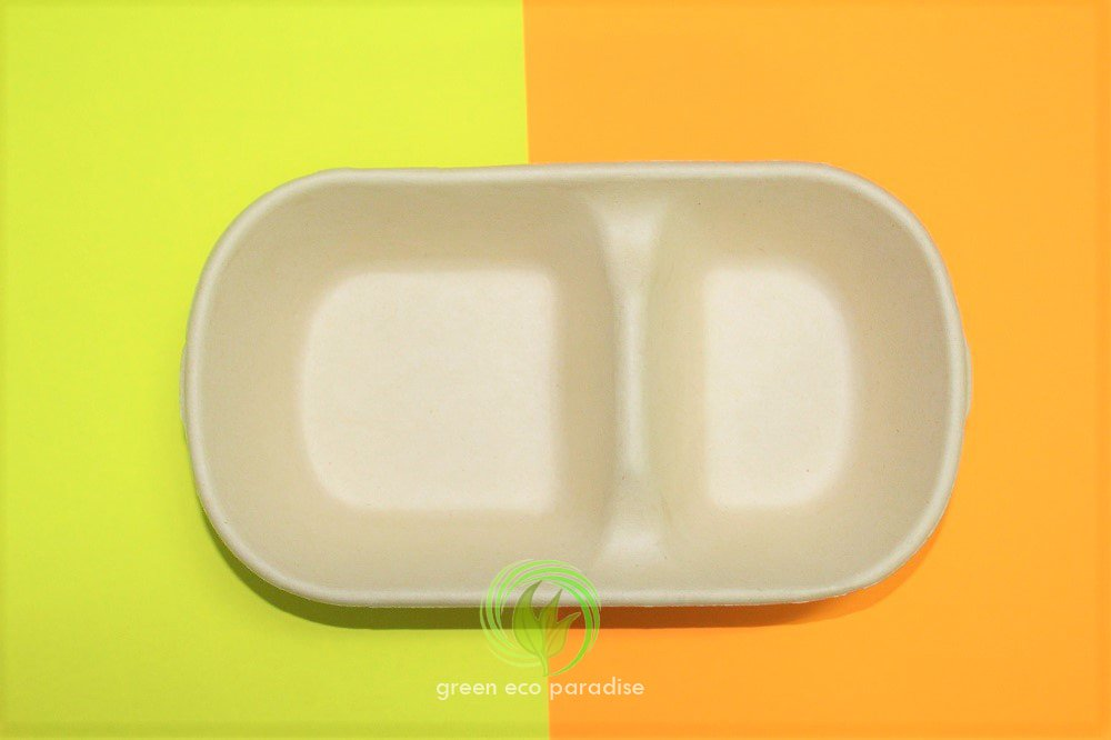A simple and sleek disposable lunch box.