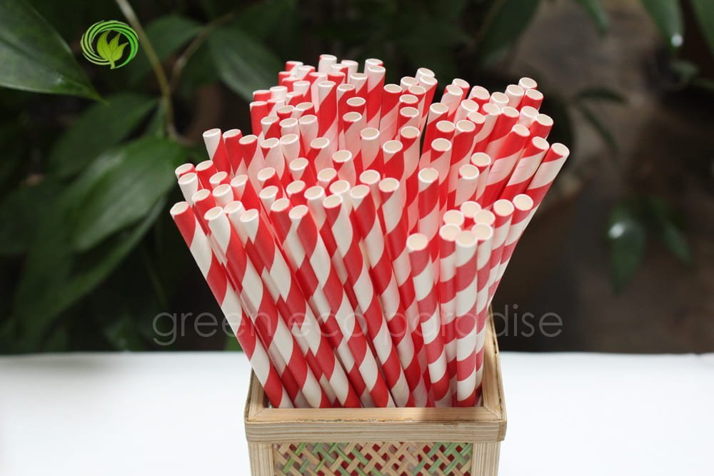Disposable drinking straws that are eco friendly.