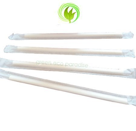Paper straw with wrap