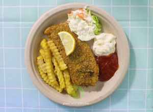 Fish and Chips on bio plate