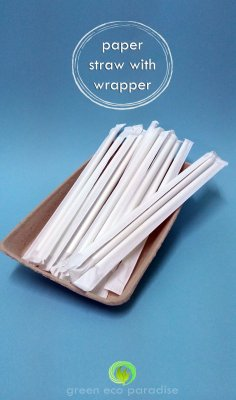 Simple and sleek paper straws.