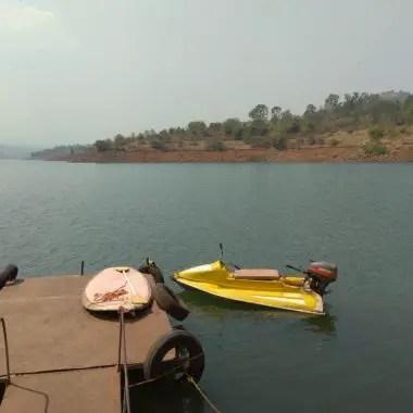 Boats at Panshet Dam