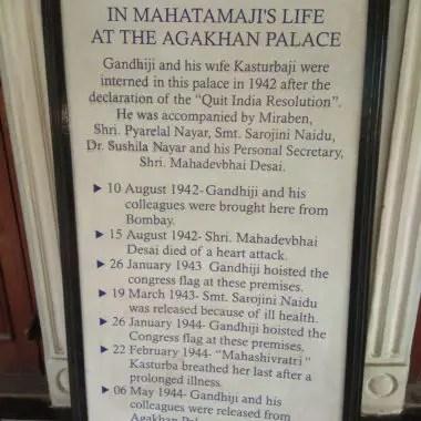 History timeline at the palace entrance