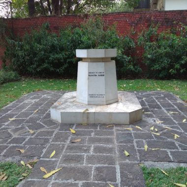 Mahatma Gandhi's ashes samadhi